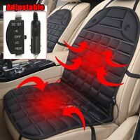 12V Car Front Seat Heated Cushion Cover Heating Heater Warmer Pad Winter Mat UK