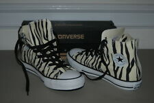 New CONVERSE ALL STAR - Girls 6 Black & White Zebra High Top Chuck Taylor Shoes