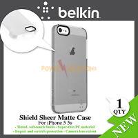 Clear Shield Sheer Matte Case for iPhone 5 5s F8W162vfC01 New Genuine Belkin