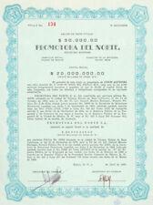 MEXICO B/68 PROMOTORA DEL NORTE  5 acciones de $10,000 de 1969, Tijuana Baja Cal