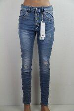 JEWELLY Damen Jeans Stretch Denim Skinny Ripped Fransen JW9218 NEU 2021