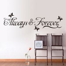 Always And Forever Decal Butterfly Removable Vinyl Wall Sticker Bedroom Decor