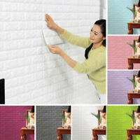 3D Wallpaper Brick Pattern PE foam Waterproof Wall Background TV (Size:60*30cm)