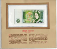 Most Treasured Banknotes Great Britain 1978-80 1 Pound P 377a UNC 03W