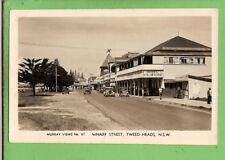 #G. AUSTRALIANA POSTCARD - WHARF ST., TWEED HEADS 1948, HOTEL PACIFIQUE