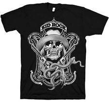 NEU Offiziell Lizenziert Kid Rock Schlange Label Skull Pistolen Schwarz Erwachsene Shirt S