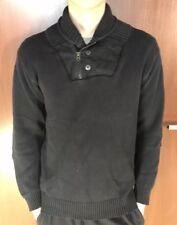 G-Star Raw Denim, Herren Pullover Process Shawl Collar Knit, Größe S, Schwarz