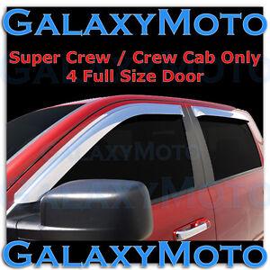 Ford F150 Super Crew Crew Cab Chrome 4pc set Window Vent Visor Rain Sun Guard