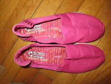 Women's BOBS From Skechers Memory Foam Pure Flex/Stretch Pink Shoes Size 7 EUC