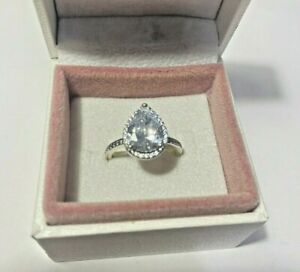 Pandora Radiant Teardrop Silver Ring - NEW/NEVER WORN -