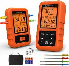 ENZOO Wireless Digital Meat Thermometer with 4 Probes and Carrying Case