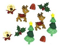 Jesse James Buttons - Dress It Up ~ Reindeer Games 5615 ~ Christmas Holly Sew