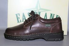 NEW Women's Eastland Plainview Size 10 Wide Brown Leather Lace Up Oxfords