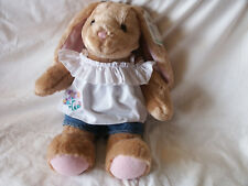 "Build-A-Bear Workshop 15"" Bunny Rabbit Pawlette + White Top & Jean Shorts Easter"