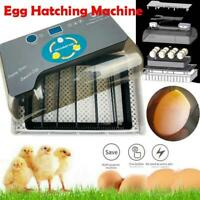 12 Eggs Fully Automatic Incubator Digital Poultry Hatcher Egg Turning LED Lamp