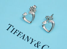 Tiffany & Co Paloma Picasso Sterling Silver Tenderness Heart Stud Earrings