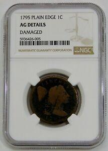 1795 - Plain Edge - Liberty Cap Large Cent - NGC AG Details