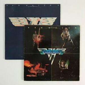 Vintage 1970s Van Halen Self Titled & Van Halen II Vinyl Records Warner Bros