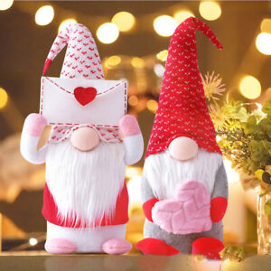 Valentine's Day Decor Red Gnome 16 Inches Tall Plush Faceless Doll Decor Gift