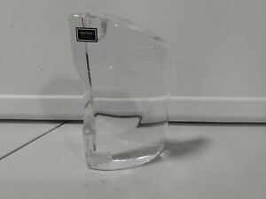 Nambe Glass Candle Holders Mid Century Modern MCM Heavy Modern Decor
