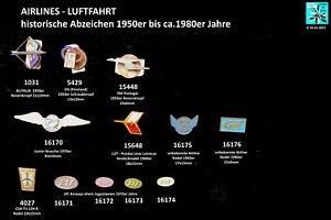 AIRLINES LUFTFAHRT historische Abzeichen 1950er bis 1980er Jahre AUSSUCHEN