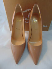 Authentic Louboutin So Kate Nude Patent Leather Pumps 40 NEW