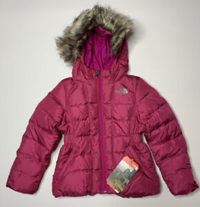 New The North Face Girls Gotham Jacket Down Coat Hooded Parka Pink XXS 5 $180