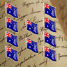 10Pcs Australia Proud Flag Safe Butterfly Buckle Badge Brooch Tie Wear Pin Gifts