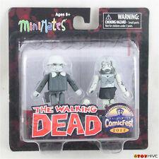 The Walking Dead Minimates Winter-Coat Dale & Female Zombie Black and White 2012