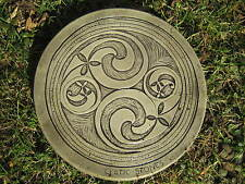 2 Swirl Stepping Stone garden ornament /other designs in my shop
