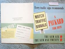 1939 PACKARD BROCHURE EVERY TRAFFIC SIGN RECOMMENDS
