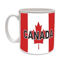 Bandera canadiense con Canadá escrito-hoja de arce / Bandera / divertida temática Taza De Cerámica