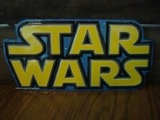 *METAL SIGN* STAR WARS space film episode movie jedi blue yellow display poster