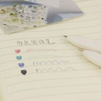 Colored Office 4 Canetas Kawaii Pens School Stationery Supplies 1