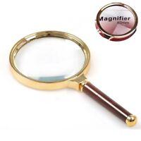 10x 90mm Handlupe Lesen Lupe Lupe Glaslupe Echtglas Lupe Vergrößerungsglas L6I4