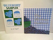LOT Very Blueberry Cookbook AND New England B Sampler Recipes Blueberries Berry