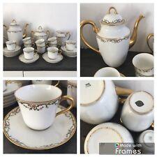 Ancien service à café en porcelaine de Limoges France
