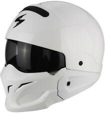 Scorpion Exo Combat solid weiß Helm Gr. L Multihelm Sonnenblende Aktionspreis