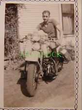 3 Photos 1938 Harley Davidson Motorcycle BROTHER & SISTER Oklahoma City