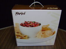 New Parini Dual Use Cake Serving Chip And Dip Plate Nib