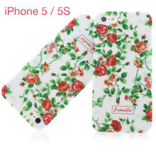 Apple iPhone 5 / 5s Schutz Handy hülle Case Bumper In rosa mit Blumenmuster