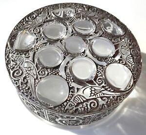 """Signed Vintage Lalique """"Roger"""" Design Powder Box, France, c1926"""