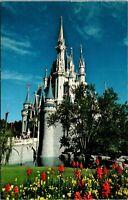 Vtg 1960's WDW Walt Disney World Cinderella Castle, Orlando Florida FL Postcard