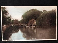 Vintage Real Photo Postcard: #TP1844: Flatford. The River & Bridge