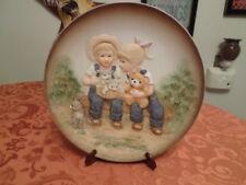 """Home Interior Denim Days 1985 """" Danny & Debbie Plate """" # 1505"""