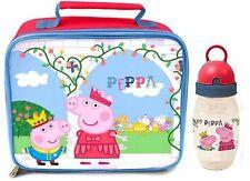 PEPPA Pig-Once Upon a Time Borsa Pranzo e Bottiglia - * Nuovo di Zecca *