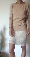 PENNYBLACK Maglione nocciola rosa beige chiaro in lana e cashmere