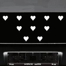 10 Stück 5cm weiß Herz Herzen Aufkleber die cut Tattoo Auto Fenster Deko Folie