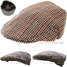 Flat Tweed Cap Hat Country Newsboy Vintage Kids Mens Boy Ladies Women Unisex