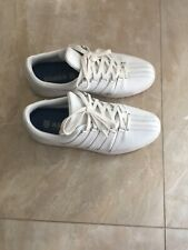 K-Swiss ��Clean Court�� Mens Classic White Leather Tennis Gym Shoe, Size 10